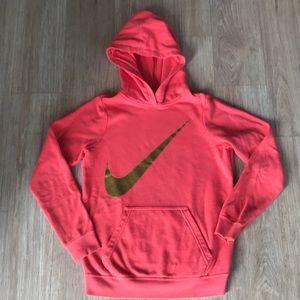 Coral Nike girls hoodie lg